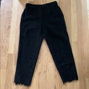 J crew lace easy pant in black, 0P